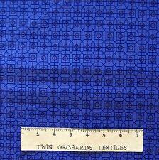 Calico Fabric - Tonal Ink Blue Geometric Gem Medallion - Northcott OOP YARD