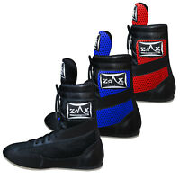 Leather Boxing Boots Shoes Long Anklet Mesh Boots JUNIORS & ADULTS