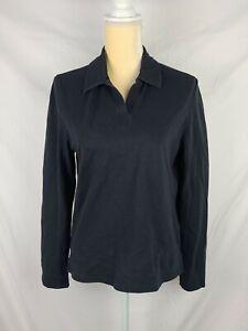 Callaway Golf Women's Black Collared Long Sleeve Shirt sz M
