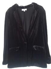 Dorothy Perkins, Black Velvet Blazer/Jacket, Size 14 Tall