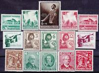 Nazi 3rd Reich 15 Rarer Issues 1934 - 1939 MINT!!