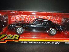 Greenlight Chevrolet Camaro Z28 1978 Black 1/18 Limited Edition