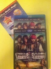Pirates of the Caribbean:On Stranger Tides 3D (Blu-ray/DVD,2011,5-Disc)AUTHENTIC