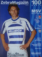 Programm 2002/03 MSV Duisburg - Reutlingen