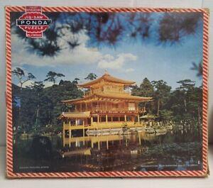 English Ponda Wooden Jigsaw Puzzle c1956-65 Golden Pavilion Kyoto Goodyear Photo
