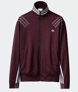 New Adidas X Alexander Wang Small Track Jacket Sweater Red Maroon Kanye Yeezy