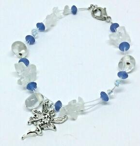 Quartz Chip Stone Fairy Charm Bracelet Hippy Boho Gift Valentine Day J143
