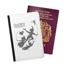 Happy Thoughts Disney Peter Pan Passport Holder Travel Flip Cover Case