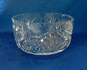 Lovely Vintage Lead Crystal Bowl ~ Serving / Trifle / Fruit Bowl