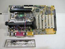 MSI MS-6182 MOTHERBOARD + PENTIUM II SL3EE + RAM + I/O SHIELD