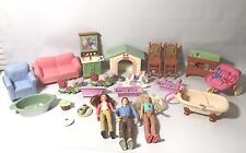 Mixed Lot Of Fisher Price Loving Family's & Others Dolls, Furniture Ect.
