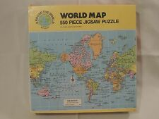 Kids maps contemporary jigsaw puzzles ebay new 2 pack mercator world map columbus ships 550pc puzzles hoyle made in usa gumiabroncs Images