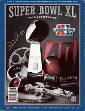 WILLIE PARKER Signed Autographed Super Bowl XL Program, Pittsburgh Steelers