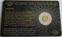 Ruanda 10 Amafaranga 2015 Icons Libertad 1/200 Oz Gold