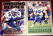 Daryl Johnston  former Dallas Cowboys NFL TE auto autograph football card LOT X2