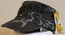 USAF Flat Top Hat USA Military Adjustable Tribal Ballcap Black Cap