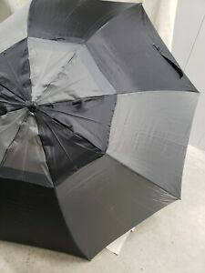 "Grey/Black 57"" Golf Tour Double Canopy Umbrella"
