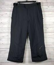 OBERMEYER Mens Snow Ski Pants Sz Large Black Insulated Snowboard Lined