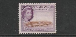 QEII SOMALILAND 53 10/- vlmm  cat £32