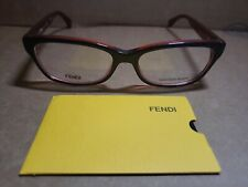 2370e8fa3dcc Fendi Micrologo FF 0004 7PP 53mm Dark Blue Red Rectangular Women s  Eyeglasses