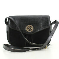 VALENTINO GARAVANI Vintage Crossbody Messenger Shoulder Bag in Black - Italy Y2K
