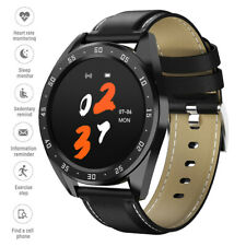 Round Screen Smartwatch Heart Rate Monitor Call Reminder for Samsung Huawei P30