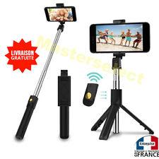 Perche pour selfie avec télécommande bluetooth trépied pour téléphone portable