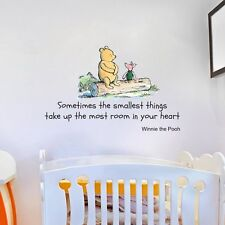 Winnie the Pooh Quote Large Nursery Bedroom Wall Sticker Decal Mural Vinyl Art