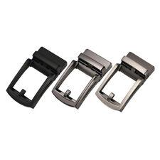 3x Solide automatische Gürtelschnalle Metall poliert Business Ratsche