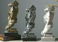 Stunning Sculpture Home Decoration Ornament Silence is Gold 3D Art Statue 2020