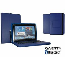 "10.1"" Bluetooth  Keyboard Case Book Cover For Samsung Galaxy Note (2014) - Blue"