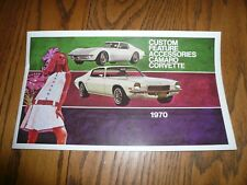 1970 Chevrolet Corvette Camaro Custom Feature Accessories Sales Brochure
