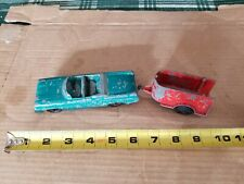Vintage Tootsie Toy Oldsmobile Covertible w/ Trailer, Estate Sale Find
