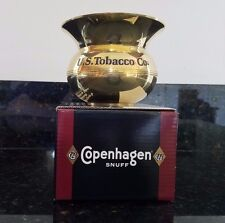 1999  Copenhagen Snuff  Brass Spittoon in Orig Box made by US Tobacco Skoal