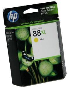 HP 88XL YELLOW Ink Cartridge Inkjet C9393AN Genuine OEM OfficeJet Pro 09-2012