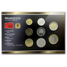2002 Morocco 5 Santimat-10 Dirhams Set Unc - SKU #19287