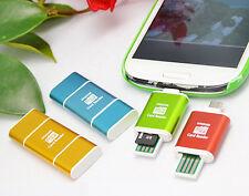 Aluminum Micro OTG + USB Mirco SD TF Card Reader Adapter For Smart Phone Pad PC