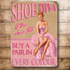 Shoe Diva Funny Pinup Girl Retro Fashion Shoes Gift Quality Fridge Magnet
