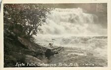 RPPC Postcard Agate Falls Ontonagon River MI Near Bruce Crossing M 970