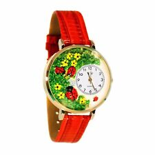 Bugs Red Leather Watch Whimsical Watches Women's G1210004 Lady