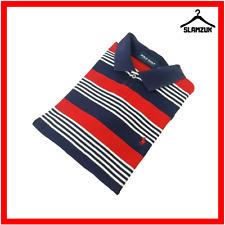 Polo Golf Ralph Lauren Camisa Manga Corta Para Hombre L Grande Azul Marino A Rayas De Múltiples