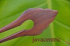 Handmade wooden HAIR JEWELRY PIN FORK PICK natural elegance new Sono wood Bali