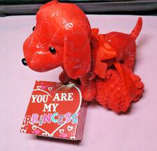 Valentine DOG HAPPY VALENTINES DAY HEART PLUSH STUFFED ANIMAL LOT Love NEW Gift