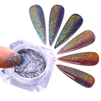 0.5g BORN PRETTY Holographic Nail Art Glitter Laser  Powder  Tips