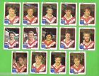 1981 EASTERN SUBURBS ROOSTERS SCANLENS RUGBY LEAGUE TEAM CARDS