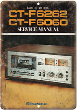 """Pioneer Cassette Tape Deck CT-F6262 Ad 10"""" x 7"""" Reproduction Metal Sign D114"""