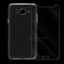2in1 Anti-Shatter Screen Protector + TPU Case for Samsung Galaxy J7 SM