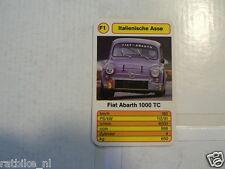 54-ITALIAN CARS F1 FIAT ABARTH 1000 TC  KWARTET KAART,CARD