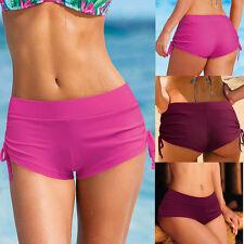 Women Summer Plain Swim Shorts Bikini Swimwear Boy Style Short Brief Bottoms New
