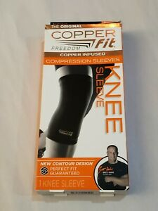 """Copper Fit Freedom Knee Compression Sleeve- Large Unisex 14"""" - 16"""""""